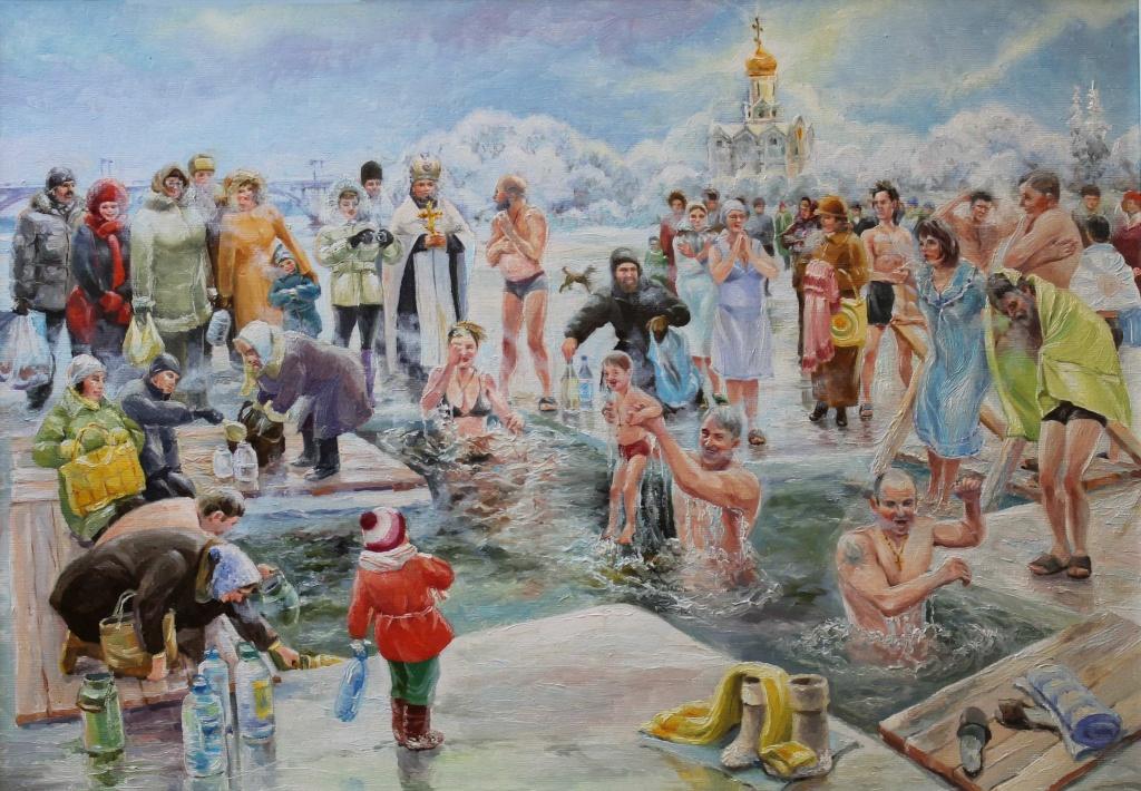 Открытки купание